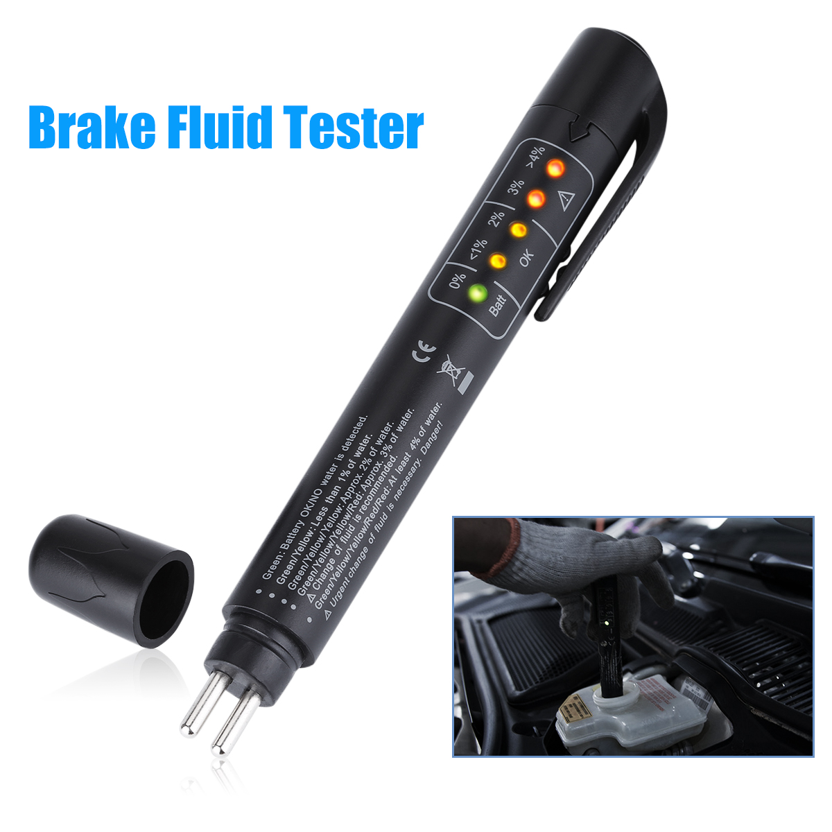 Brake Fluid Tester Pen With 5 Led Display Hobbyist Co Nz