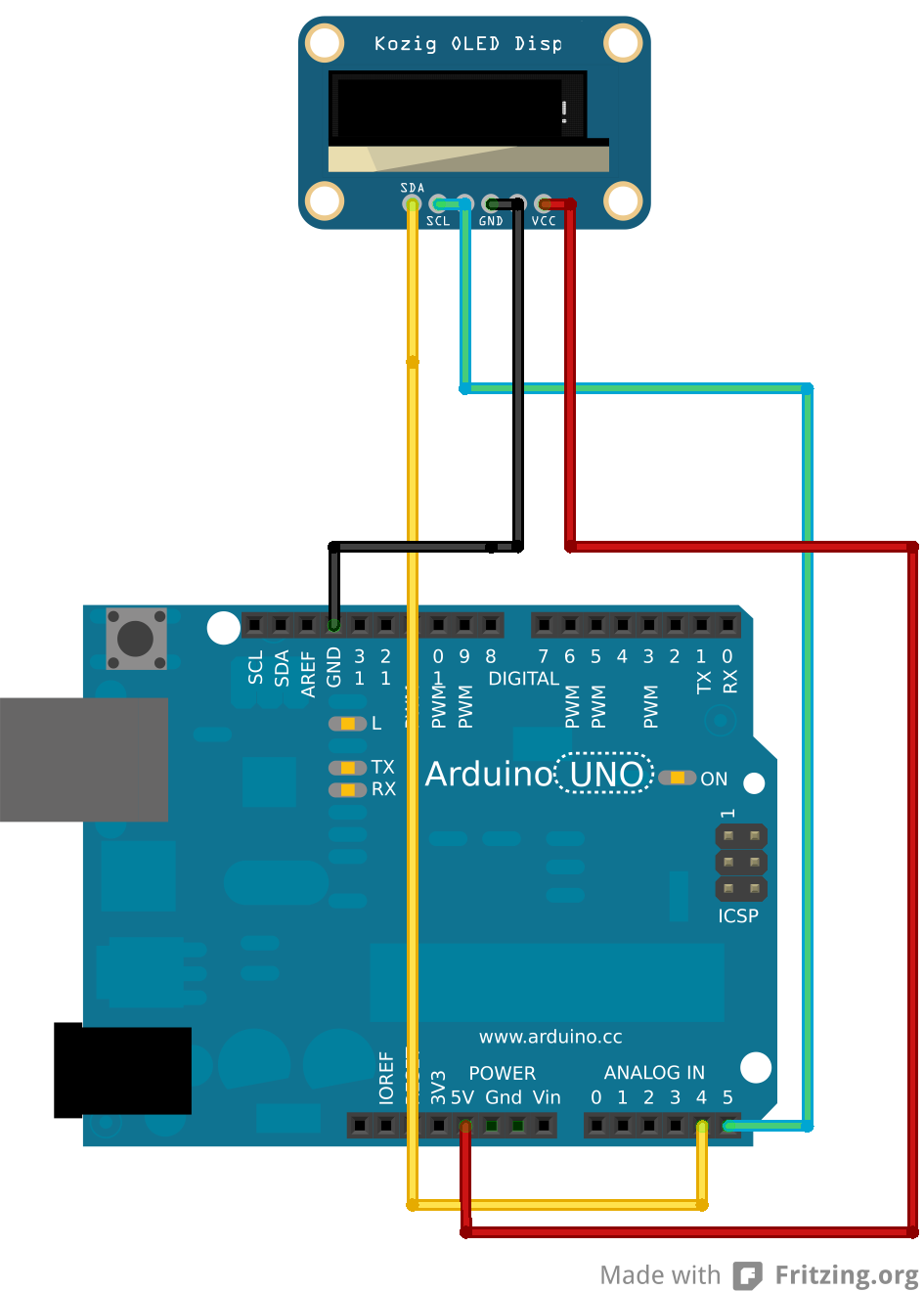 NetSensor step 2: How to connect arduino to an OLED display
