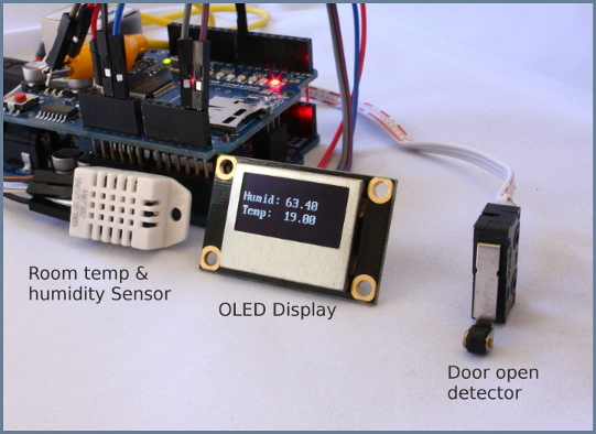 NetSensor : Arduino Room monitor & Home alarm system hooked to internet