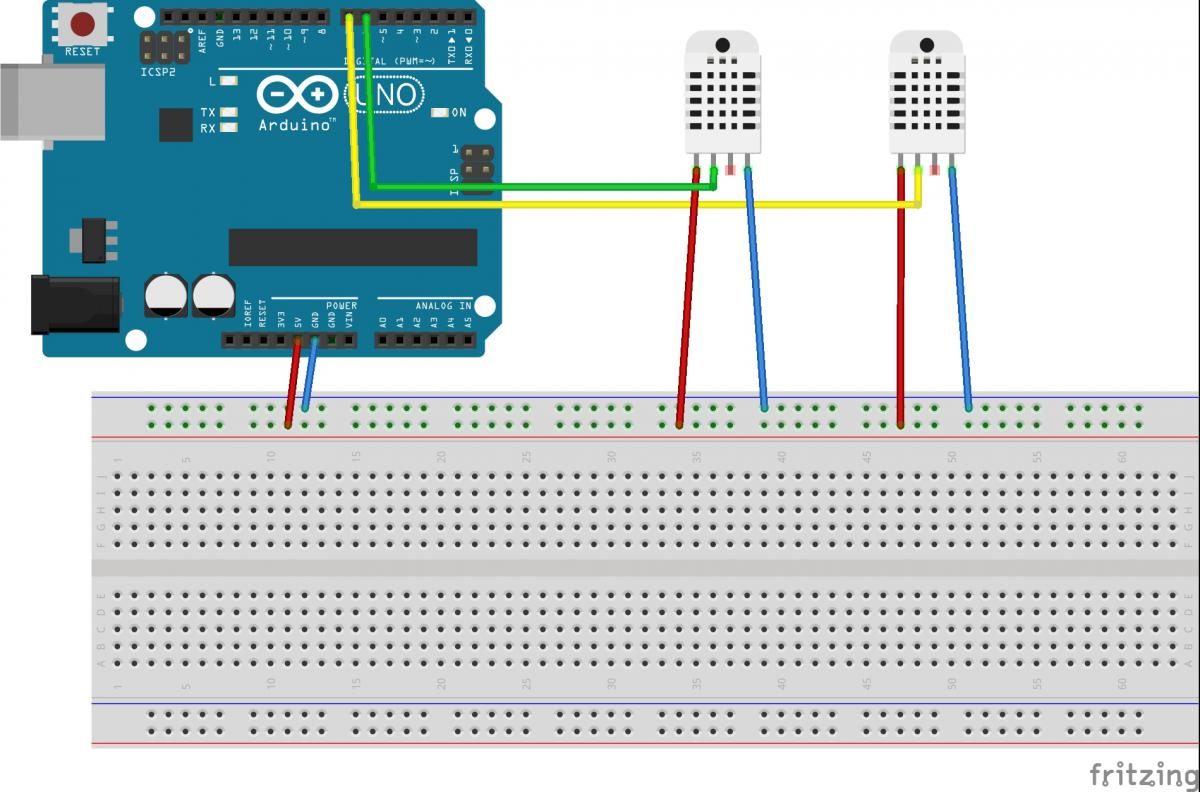 Pin Reset Sensor Arduino Hobbyistconz Also Pay Attention To Polarity When Powering The Sensors Is Data