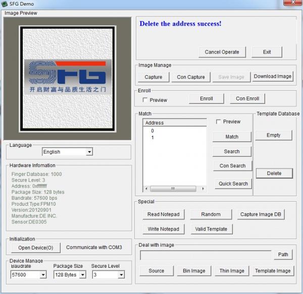 Fingerprint Sensor Kit - Part 1: Using enrolling software   Hobbyist