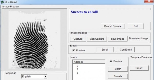 Fingerprint Sensor Kit - Part 1: Using enrolling software