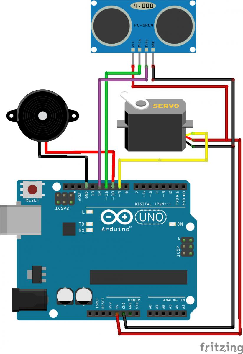 Setting up the Arduino, Servo and the Sonar sensor | Hobbyist co nz