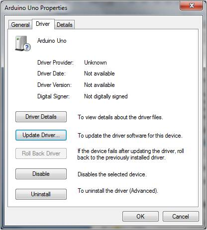 Arduino UNO Windows 7 USB driver installation | Hobbyist co nz
