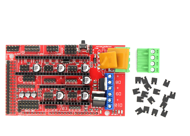 RAMPS-1-4-3D-printer-control-panel-top-view Ramps Wiring Diagram Extruders on
