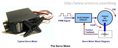 How to convert a DC motor to a servo motor with Arduino ... Dc Servo Motor Wiring Diagram With Otors on